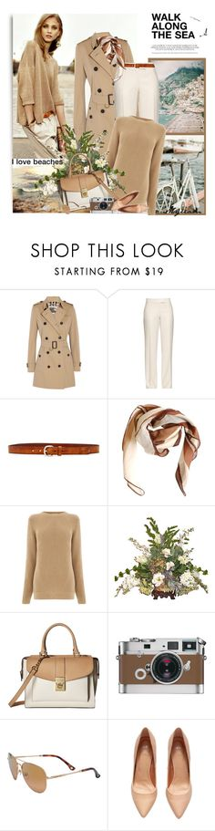 """""""walk along the sea in italy"""" by lovemeforthelife-myriam ❤ liked on Polyvore featuring WALL, Retrò, Burberry, STELLA McCARTNEY, Liebeskind, HUGO, Calvin Klein, Hermès, Michael Kors and H&M"""