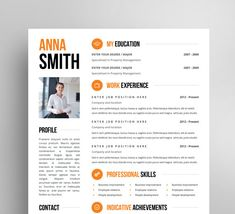 Resume Template With Photo  Pages  Cv Cover Letter