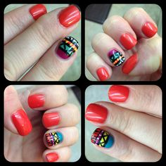 Tribal nailart! Fun!