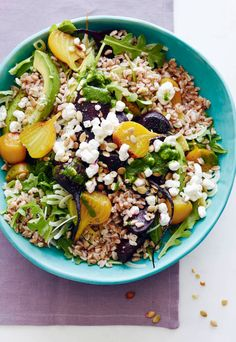 Goat Cheese, Roasted Beet and Farro Salad from www.whatsgabycooking.com - perfect for make ahead lunches or dinner! (@whatsgabycookin)