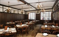 Tradition German Beer Hall original dining room. 127 years old! Welcome to Peter Lugers Steakhouse, Williamsburg, Brooklyn