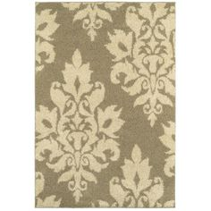 Home Decorators Collection Meadow Damask Neutral 9 ft. 6 in. x 12 ft. 2 in. Area Rug