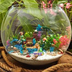 A Mermaid Party in a Planter