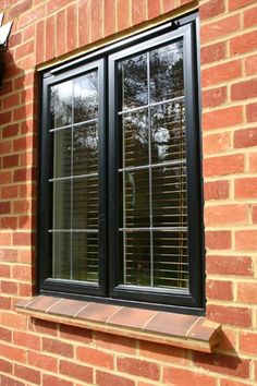 Mcleans Windows are one of the leading Leaded Light Windows installers in Oxford. Call 01865 715165 to discuss our latest special offers. Lead Windows, Black Windows, Windows And Doors, Aluminium Sliding Doors, Aluminium Windows, Wall Exterior, Exterior Design, House Front, My House