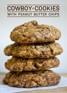 Cookies with Peanut Butter Chips Cowboy Cookies with Peanut Butter Chips by ~ Yes, please!Cowboy Cookies with Peanut Butter Chips by ~ Yes, please! Peanut Butter Chips, Peanut Butter Recipes, Best Cookie Recipes, Peanut Butter Cookies, Yummy Cookies, Sweet Recipes, Fall Recipes, Cookie Desserts, Just Desserts