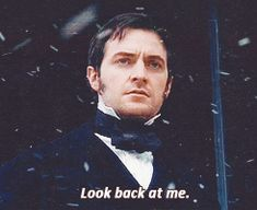 Richard Armitage (John Thornton) ..as Margaret Hale leaves by carriage in the snow after her father's death...