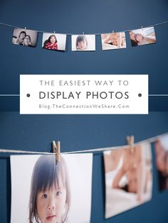 If you're tight on space, then this is probably the easiest way to display photos for you! You just need some string and some tacks and VOILA! Done!