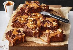 Dulce-de-Leche-Brownies Brownies, Sweet Tooth, Desserts, Recipes, Food, Panna Cotta, Sweets, Pie, Baking