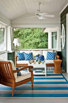 Breezy Porches and Patios. Classic Nautical Porch