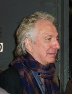 Alan Rickman at the stage door after the last dress rehearsal of Seminar on Broadway, late 2011.