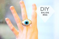 DIY Jewelry: Evil Eye Ring | we heart this | we heart this