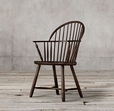 Bow Back Windsor Armchair:Our reproduction of an early English Windsor chair is faithful in every detail – from the bowed silhouette and arched spindle back to the continuous arm and gently splayed legs. Painted Dining Chairs, Leather Dining Room Chairs, Furniture Covers, Furniture Decor, Wooden Furniture, Indoor Outdoor Rugs, Outdoor Chairs, Craftsman Dining Room, Restoration Hardware Dining Chairs