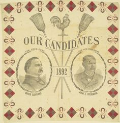 Campaign Bandanna, 1892, Cleveland & Stevenson