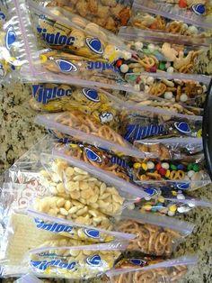 pre prepared snack bags