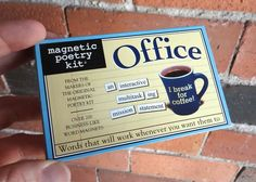 Item #3141 Create a lively water cooler conversation right on your file cabinet with this collection of magnetic words specially chosen to help you write your o