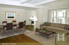 Upper Westside, NYC 3BR Virtually Staged. Click to see unstaged.
