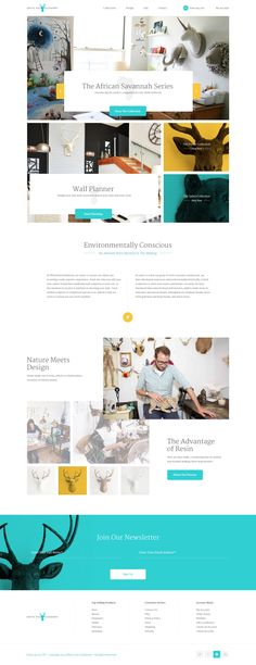 Neat web design. Full concept for WFT (White Faux Taxidermy) by Elegant Seagulls
