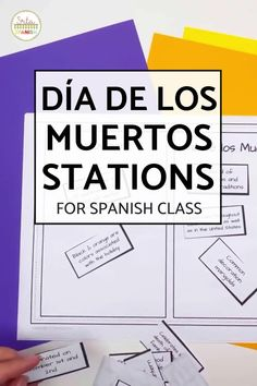 Check out some engaging options for station ideas, cultural activities, and crafts you could include for Day of the Dead Activities for Spanish class! Help your students or kids learn everything about the Day of the Dead with this collection of Día de los Muertos lesson plans and resources. This post is great for any middle or high school Spanish class studying el Día de los Muertos, the Day of the Dead. Class decor, writing activities, games, and more included! Click through to learn more! Spanish Lesson Plans, Spanish Lessons, Spanish 1, Class Activities, Writing Activities, Middle School Spanish, Class Decoration, Spanish Classroom, Student Reading