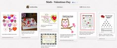 love2learn2day - new Pinterest board featuring math ideas for Valentine's Day.
