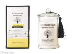 ECOESSENCE COCONUT AND LIME SCENTED AROMATIC CANDLE IN GLASS JAR - MOTHERS DAY - $23.99