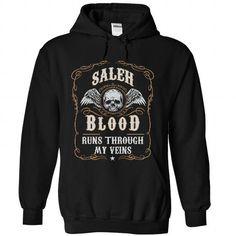 SALEH Blood Runs Through My Veins! - #tee design #disney sweater. OBTAIN LOWEST PRICE => https://www.sunfrog.com/Names/SALEH-Blood-Runs-Through-My-Veins-9065-Black-29533597-Hoodie.html?68278