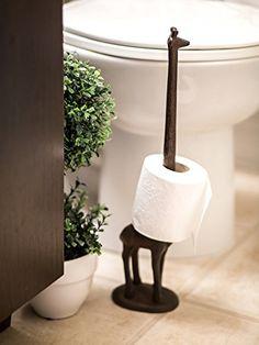 Cast iron giraffe paper towel or toilet paper holder!