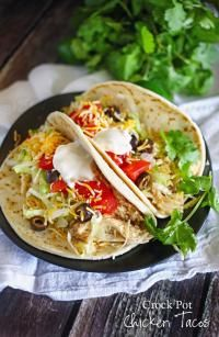 Best Crock Pot Chicken Tacos on MyRecipeMagic.com Best chicken taco recipe - answers that nagging question - What's for dinner?
