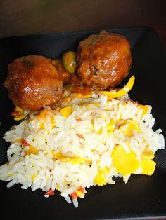 Arroz com Pequi e Almôndegas de Soja| Rice with Pequi and Soy Balls #vegan