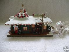 Hawthorne Village Coca Cola Christmas House Holiday Train Station Lighted COA