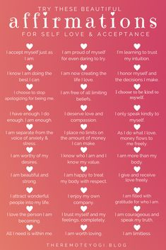 One of the best ways to focus on self love is to change the way you speak to yourself with these self love affirmations. Positive Affirmations Quotes, Self Love Affirmations, Morning Affirmations, Affirmation Quotes, Positive Quotes, Healing Affirmations, 5am Club, Learning To Trust, Self Love Quotes
