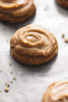 Pumpkin Cookies with Brown Sugar Frosting | Creme de la Crumb | These super soft pumpkin cookies with brown sugar frosting will melt in your mouth!