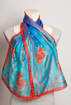 Hand painted silk scarf by Liga Kandele❤❤❤