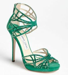 emerald-jimmy-choos. pantone color of the year.
