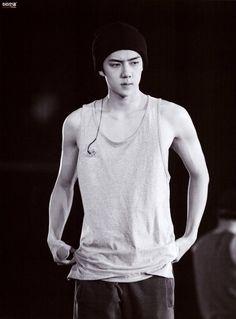 Sehun - 160729 Exoplanet - The EXO'luXion photobook - Credit: 아이언 큥. Sehun Hot, Chanyeol Baekhyun, Baekyeol, Chanbaek, Tao, Rapper, Exo Luxion, Arm Muscles, Exo Korean