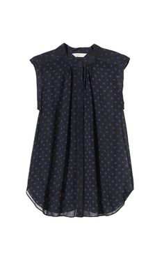 Rebecca Taylor Dotty Print Sheer Top