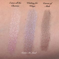 Loose Glitter Pigment FIRE DROPS 'Eaten all the Cherries', 'Wishing for Wings', 'Caress of Mink'