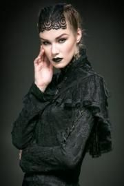 Moonspell Black Lace Gothic Cape by Punk Rave