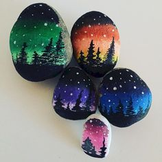 Beauty and cute rock painting ideas (11)