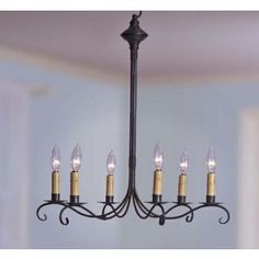 Northeast Lanterns Colonial Scroll Chandelier