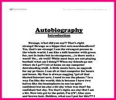 Student Bio Example Writing Personal Biography