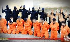 Executed for the world to see, ISIS release footage of brave Iraqi police officers who infiltrated the Islamist group but were caught aiding coalition air strikes #DailyMail