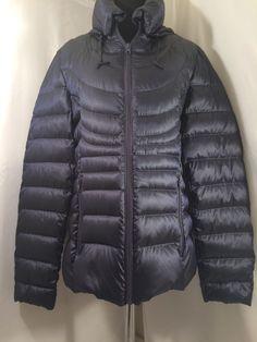 Womens ana Packable Premium Down Puffer Coat Jacket sz XL Navy Blue NWT #ana #Puffer #Casual