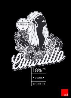 Contralto - Wine packaging by Zendo ADV, via Behance