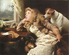 """No Ride Today"" by Charles Burton Barber (1845-1894), British painter"