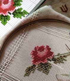 This Pin was discovered by Hür Hardanger Embroidery, Cross Stitch Embroidery, Hand Embroidery, Cross Stitch Patterns, Modern Embroidery, Bargello, Cross Stitching, Needlepoint, Needlework