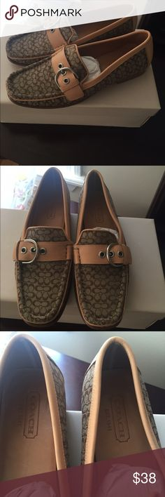 Genuine Coach Loafers Tan Color loafers. Like new. Worn only once. Coach Shoes Flats & Loafers