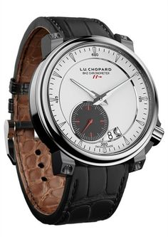 #Chopard has unveiled the only high frequency mechanical timepiece with COSC certification: the L.U.C. 8HF. Inside the classic, elegant case is an impressive 8Hz or 57,600 vph escapement. Part of the calibre L.U.C. 01.06-L movement can be viewed through the watch's caseback, and that's the only thing about this watch that hints to its remarkable performance.