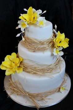 rustic white yellow