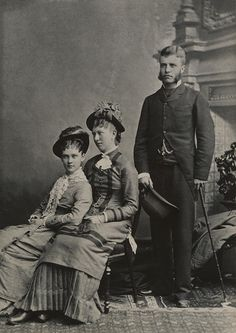 Theodore Roosevelt with Alice Lee (far left).  She was his first wife and mother of their daughter, Alice Lee Roosevelt