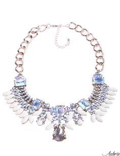 #aubrie #aubriepl #aubrie_necklaces #necklaces #necklace #jewelery #accessories #mel #pastel #colorful #shine #crystal #baby blue #blue